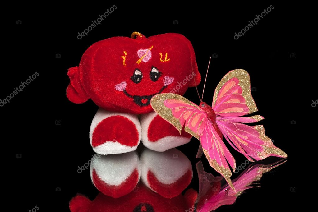 Valentine's Heart with butterfly — Stock Photo #4537560