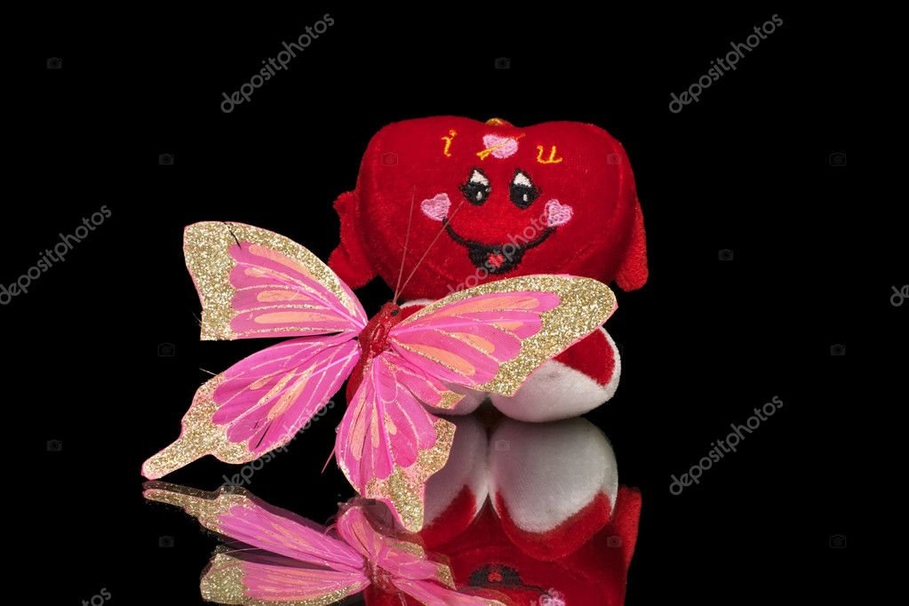 Valentine's Heart with butterfly  Stock Photo #4537561