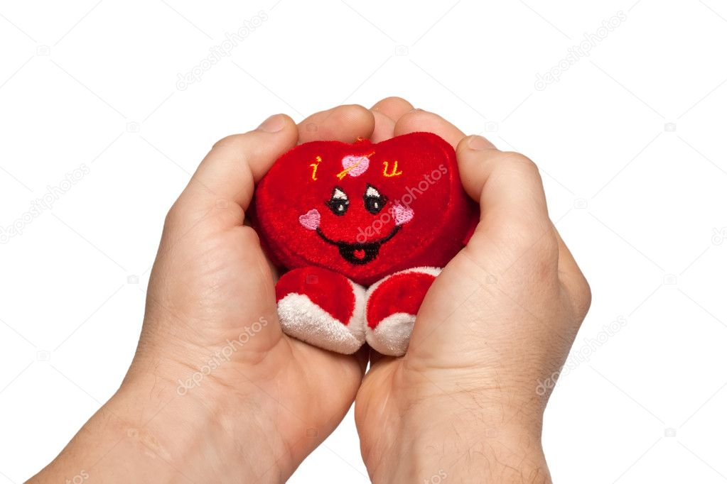 Funny sweetheart hand, isolated on a white background — Stock Photo #4537572