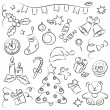 Royalty-Free Stock Vector Image: New Year Sketch Set