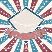 Vecchio sfondo americano a colori — Vettoriale Stock
