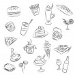 Food and drinks - Stock Vector