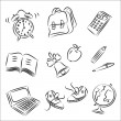 Stock Vector: Back to School Sketch Collection