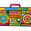 Funny Boom Box — Vector de stock #4093123