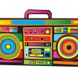 Vector de stock : Funny Boom Box