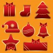 Royalty-Free Stock Векторное изображение: Vector New Year Tags Set