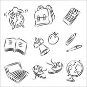 Back to School Sketch Collection — Stock Vector