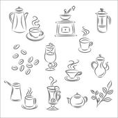 "Set of Vector Sketches "" Coffee and Tea "" — Stock Vector"