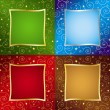 Stock Vector: Four Color Holiday Backgrounds