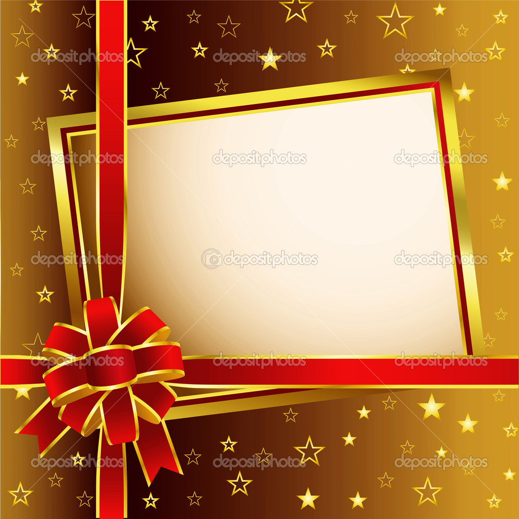 Golden Background Image Golden Background With Red Bow