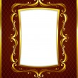 Stock Vector: Luxury Golden Frame