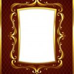 Luxury Golden Frame — Stock Vector