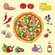 Stock Vector: Colorful Pizza