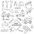 Constructions Signs and Tools Clip-art Set — Stock Vector