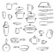 Stock Vector: Kitchen utensil Collection