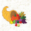 Colorful Cornucopia - Stock Vector