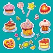 Beautiful Sweets Set — Stock Vector