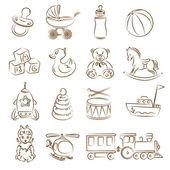Set of children's toys — Stock Vector