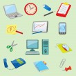 Royalty-Free Stock Vector Image: Colorful Office and Business icons