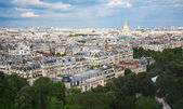 Kind to Paris from Tour d'Eiffel height — Stock Photo