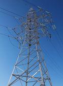 Věž vysokého napětí linky — Stock fotografie