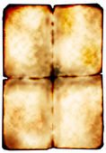 Sheet of old burned paper — Stock Photo