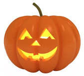 Happy Halloween Pumpkin, Jack O Lantern, clipping path — Stock Photo