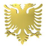 Знак орла с двумя головами, изолированные на белом — Стоковое фото