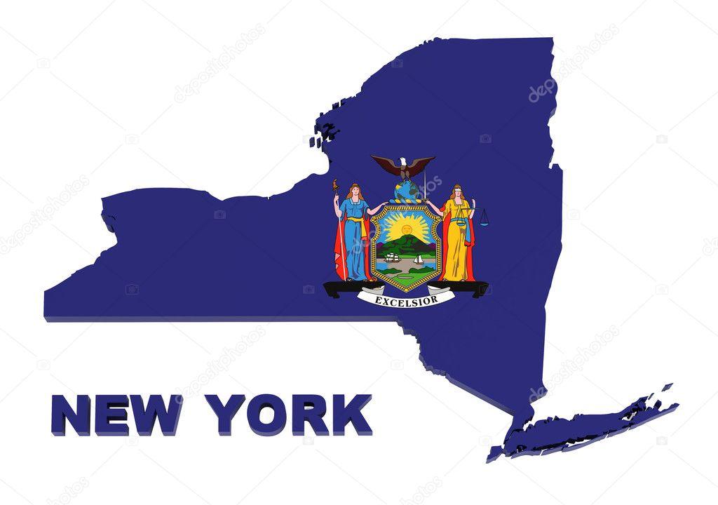 Staat New York Kaart de Staat Van New York