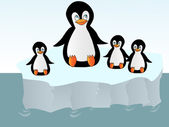 Penguins on an iceberg — Stock Photo