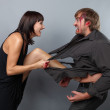 A boy and girl having an angry confrontation — Stock Photo #4079384