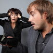 A boy and girl having an angry confrontation — Stock Photo #4079466