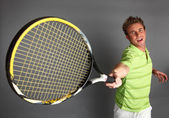 Young attractive tennis player — Stock Photo