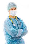 Portrét mladého muže chirurg. izolované na bílém — Stock fotografie