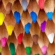 Stock Photo: Heap of colored pencils, studio shot