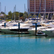 Luxurious yachts docked in the marina of Vilamoura, Algarve Port — Stock Photo