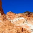 Red montains in Algarve, south of Portugal - Stock Photo