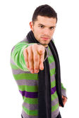 Man pointing with is finger — Stock Photo