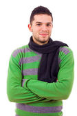 Happy young man dressed with winter clothes — Stock Photo