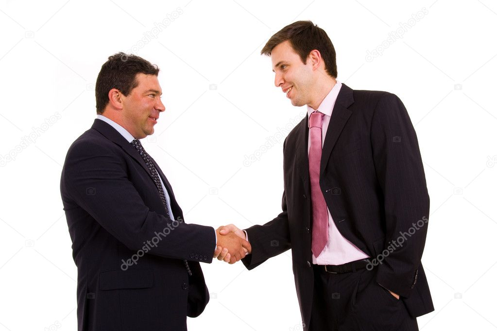 Business team hand shake at the office  — Stock Photo #4116212