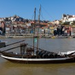 Royalty-Free Stock Photo: Rabelo Boat in Douro River at Oporto City, Portugal