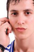 電話でカジュアルな若者, — ストック写真