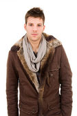 Man dressed with winter clothes — Stock Photo