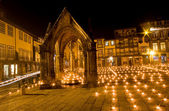 Night view of Praca de S.Tiago in Guimaraes — Stock fotografie