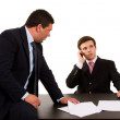 Business team working at a desk — Stock Photo #4530120