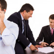Business team working at a desk — Stock Photo #4582011