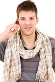 Young casual man on the phone — Stock Photo