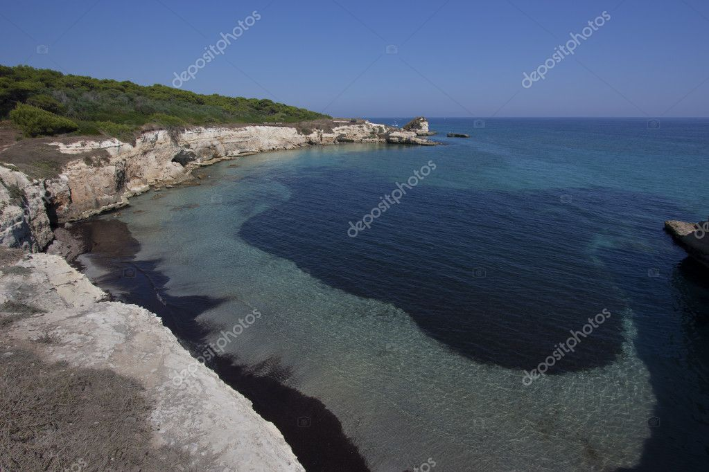 Italian seascape taken in Apulia  Stock Photo #4076123