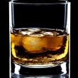 Stock Photo: Glass of whiskey and ice