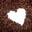 Stock Photo: Coffee heart is isolated over white background